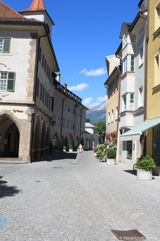 Gasse in Hall in Tirol