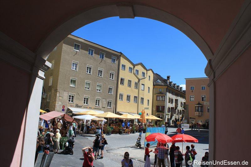 Blick auf den Haller Stadtplatz