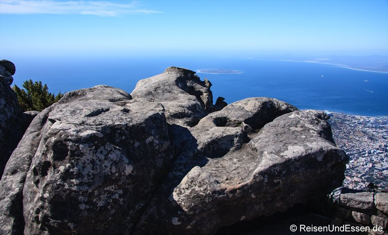 Mystische Spuren im Fels auf den Tafelberg