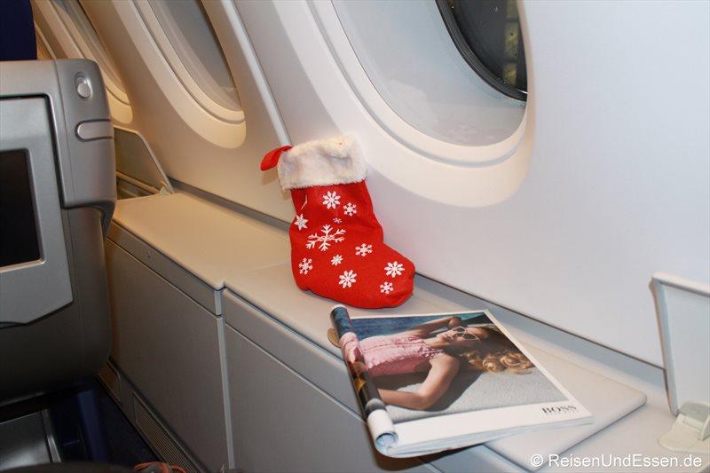 Weihnachten in der A380 beim Flug LH572 nach Johannesburg