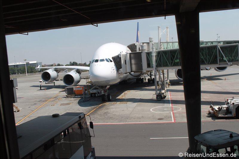 Ankunft mit A380 von Lufthansa LH572 in Johannesburg