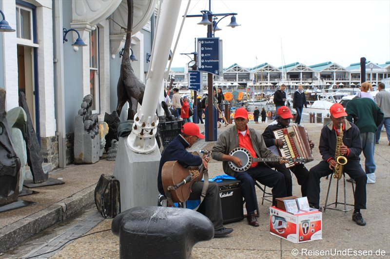 Musiker in der V&A Waterfront in Kapstadt