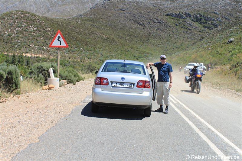 Ende der asphaltierten Strasse zum Swartberg Pass