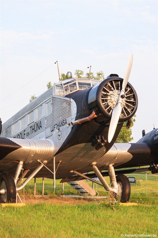 Junkers Ju 52 beim Besucherpark Flughafen München