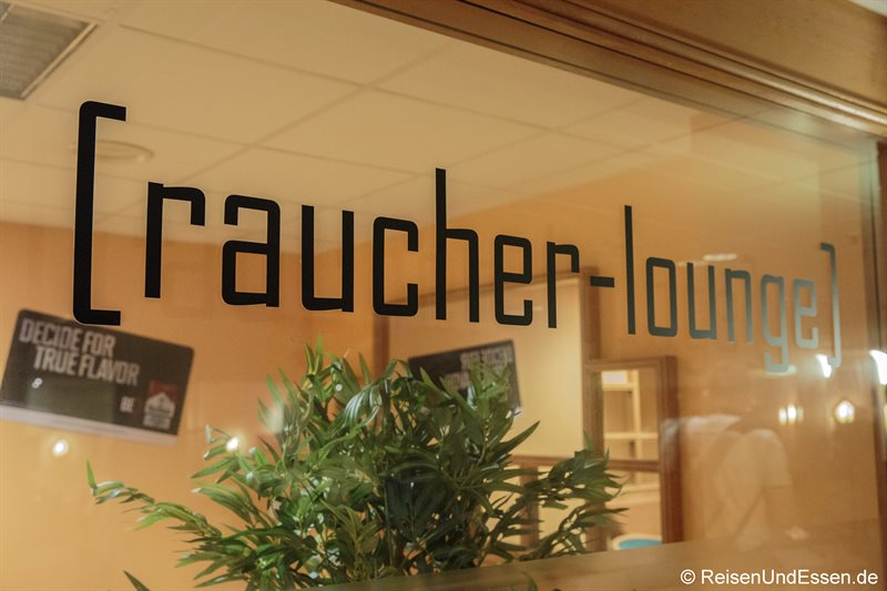 Raucher-Lounge im Radisson Blu in Karlsruhe