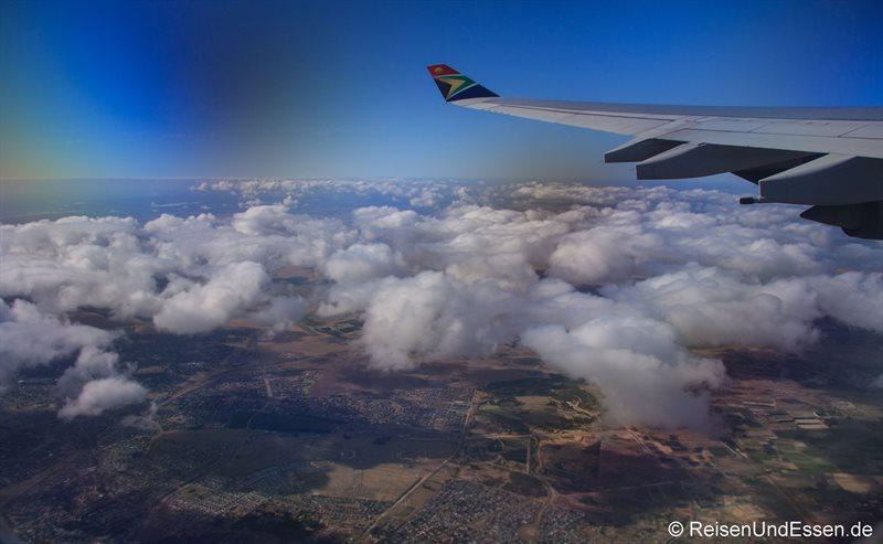 Flug von Kapstadt nach Johannesburg