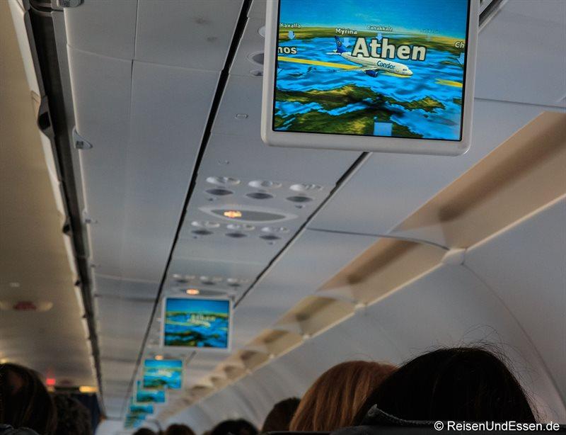 Fluginformation im Airbus A320 von Condor