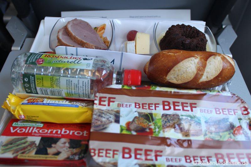 Premium Menu bei Condor - Warmes Essen