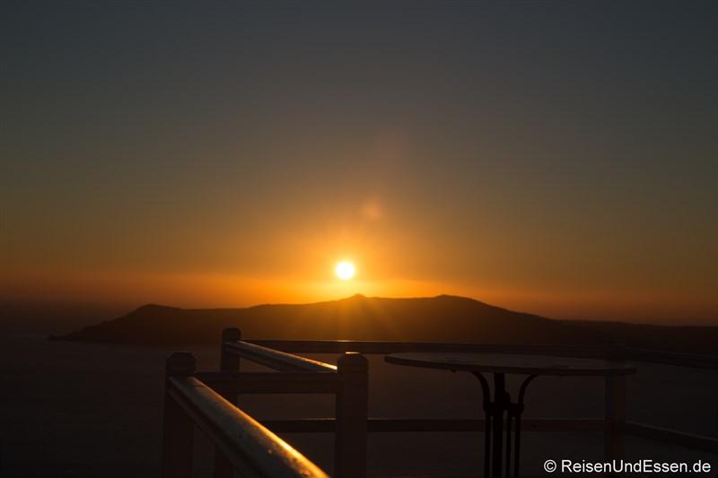 Sonnenuntergang in Firostefania