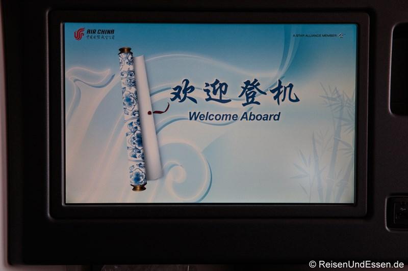 Monitor an Bord von Air China