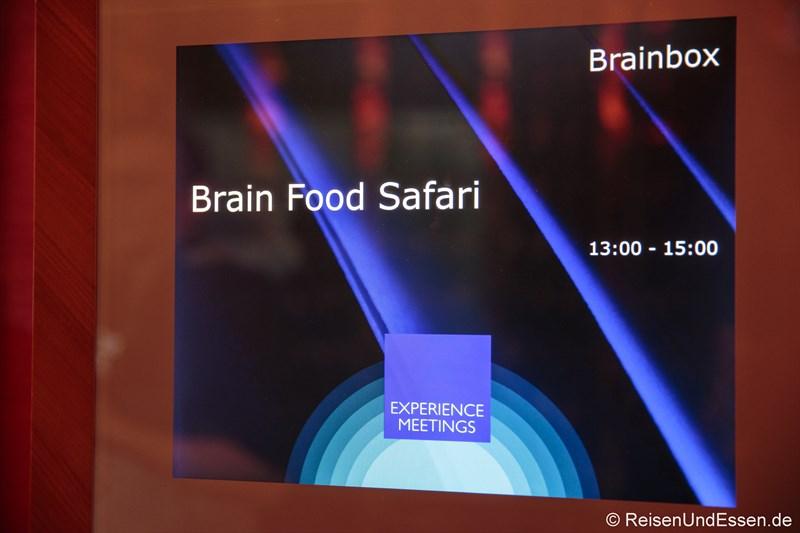 Brain Food Safari im Radisson Blu Frankfurt