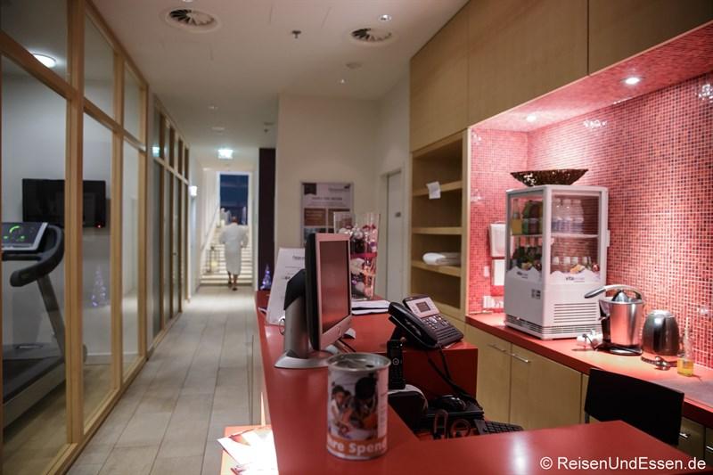 Blick in den SPA Bereich im Radisson Blu Frankfurt