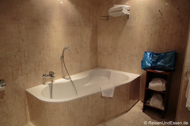 Badewanne in der Suite