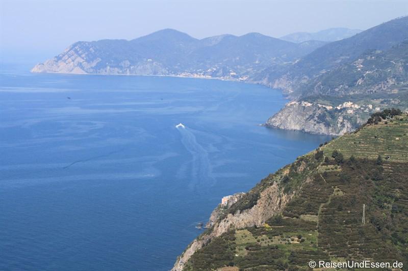 Blick auf die Küste der Cinque Terre