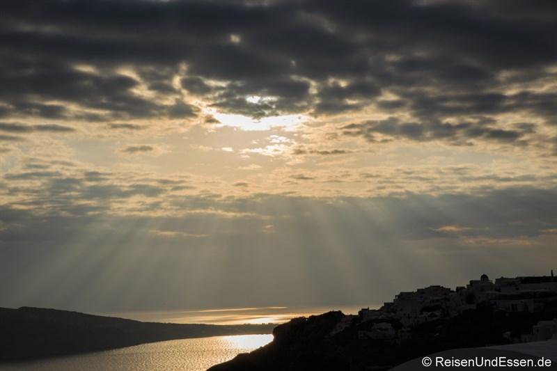Abendsonne in Oia