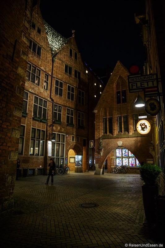 Haus des Glockenspiels bei Nacht