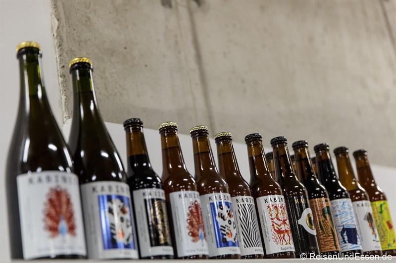 Sortiment der Kabinet Brauerei in Belgrad