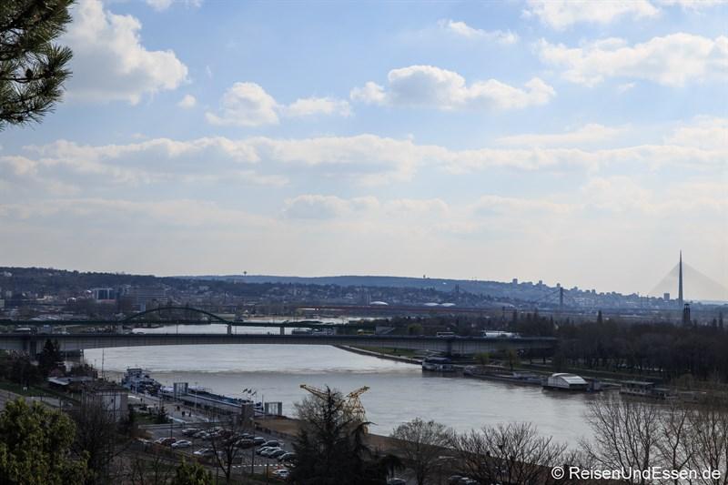 Blick von der Festung auf Belgrad