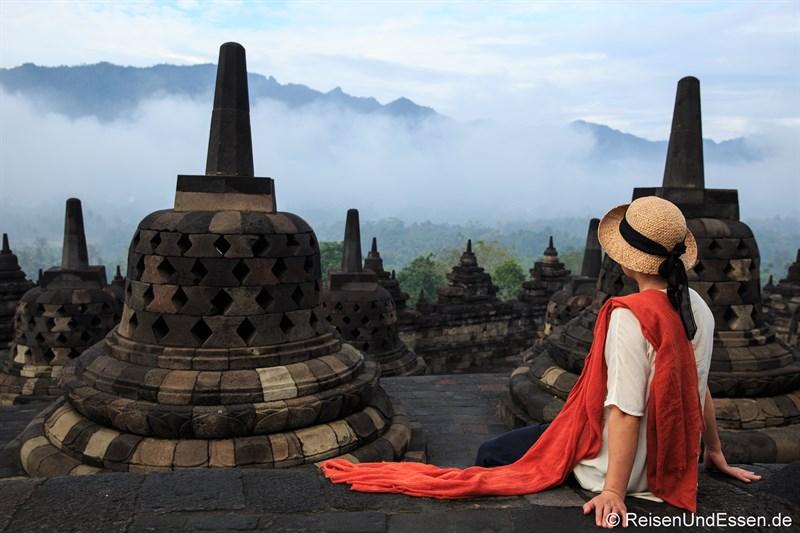 Erlebnis von Borobudur am Morgen