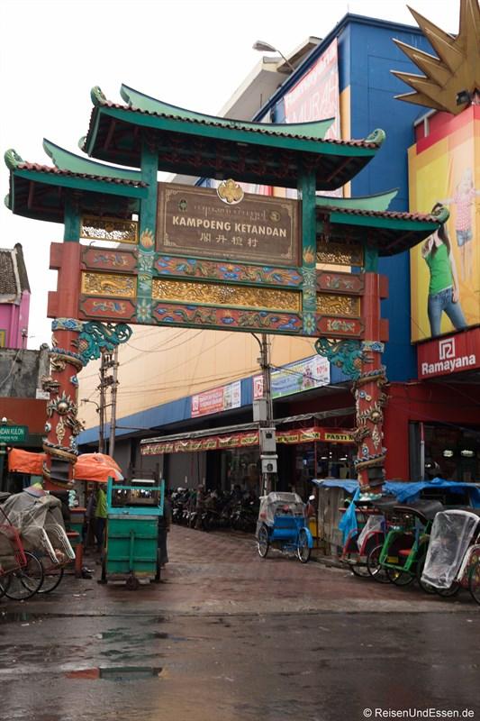 Tor zu Chinatown in Yogyakarta