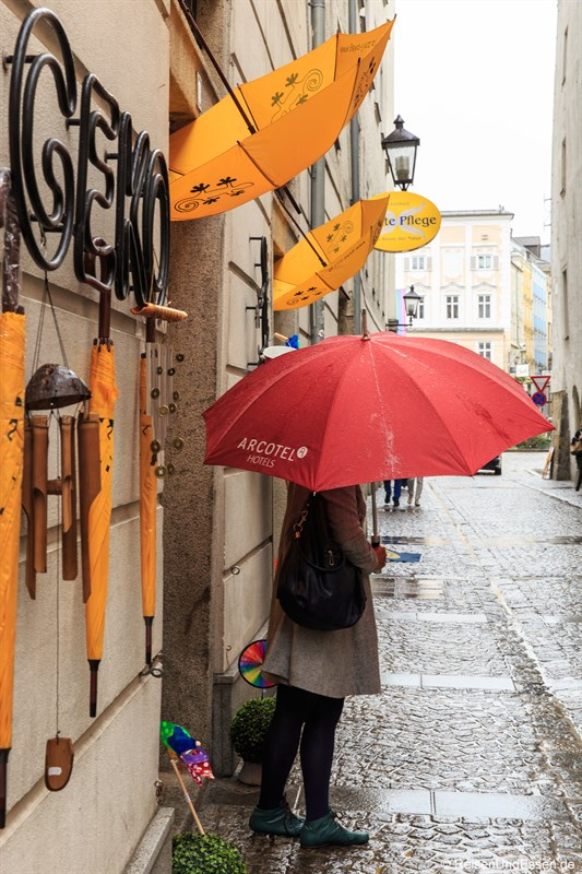 Stadtrundgang in Linz bei Regen