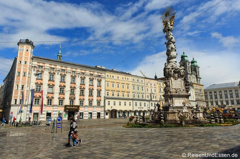 Dreifaltigskeitssäule auf dem Hauptplatz Linz