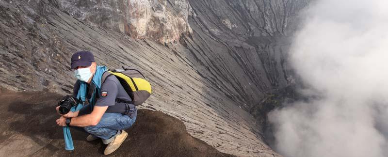 Auf dem Vulkan Bromo