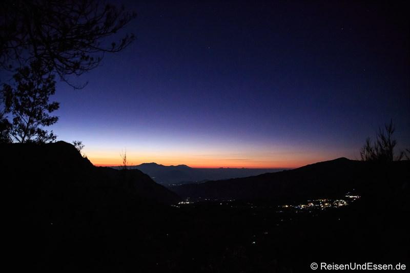 Sonnenaufgang am Vulkan Bromo