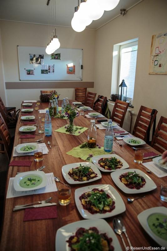 Tafel im Kochhäuschen