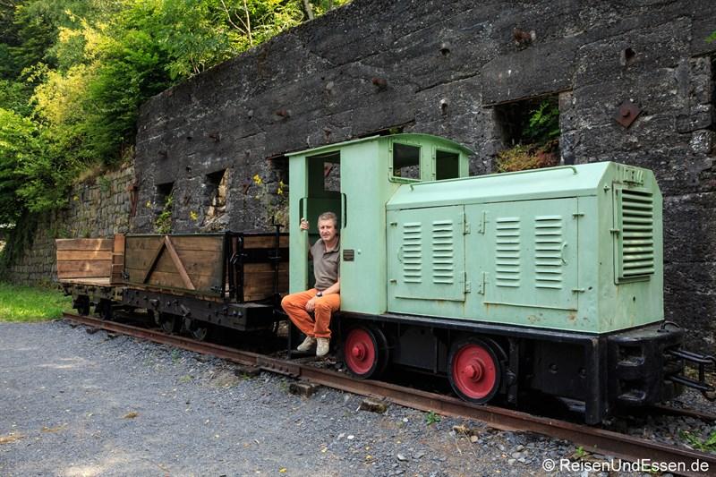 Bahn zum Transport von Basalt