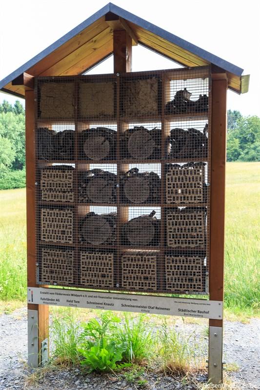 Insektenhotel im Wildpark Bad Marienberg