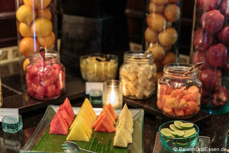 Frisches Obst in der Club InterContinental Lounge