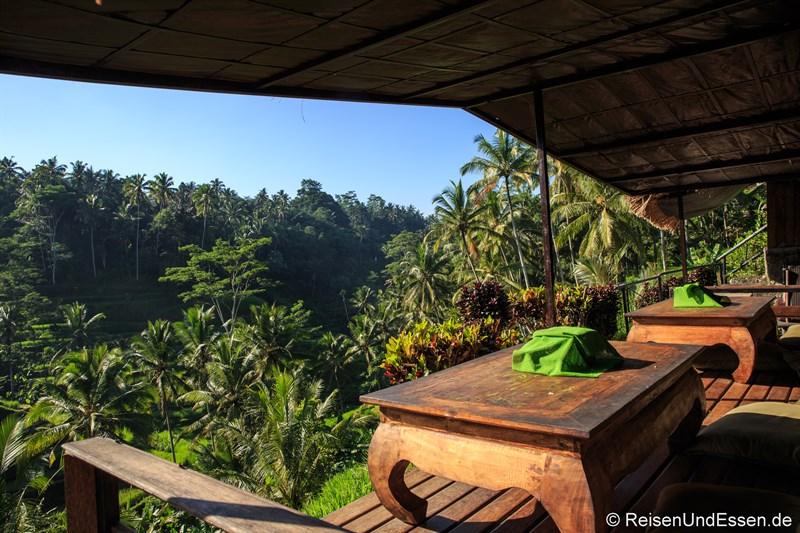 Ruheoase bei den Reisterrassen von Tegalalang