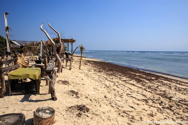 Tipps zu den Gili Inseln - Chillige Bar auf Gili Trawangan