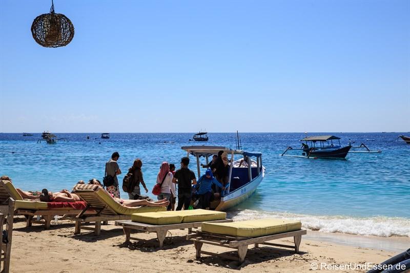 Tipps zu den Gili Inseln - Öffentliches Boot auf Gili Trawangan