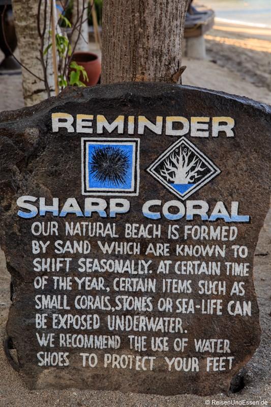 Achtung Korallen