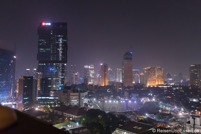 Aussicht vom Pool im Hotel Indonesia Kempinski Jakarta