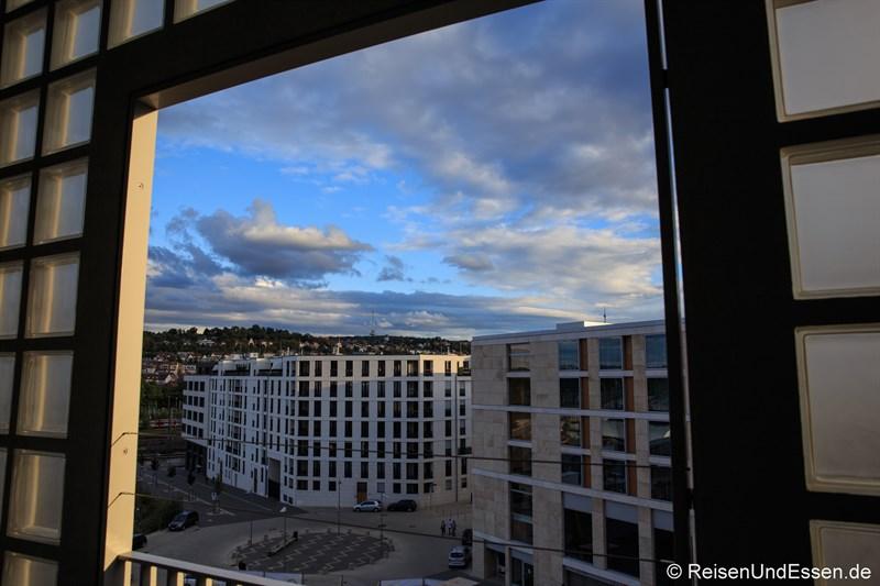 Blick von der Stadtbibliothek Stuttgart