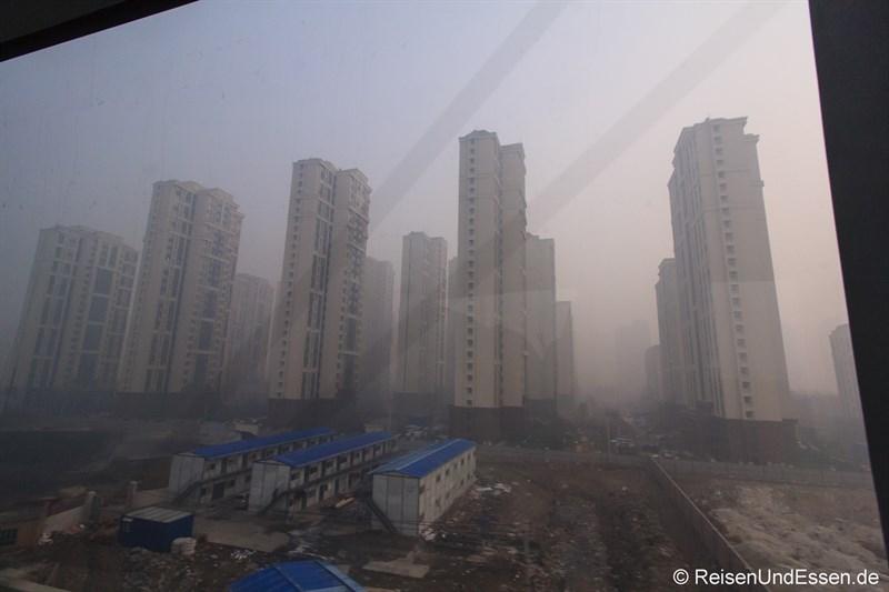Mit dem CRH durch den Smog in Beijing