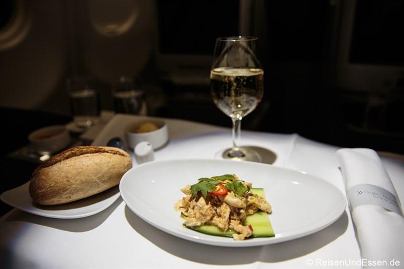 Pikanter Salat von der Poularde Szechuan