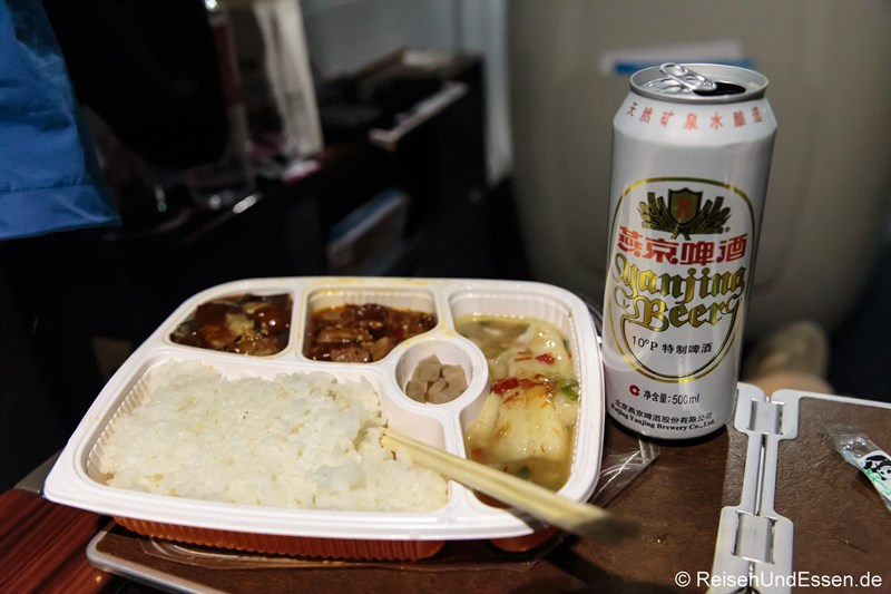 Essen in der Business Class des CRH