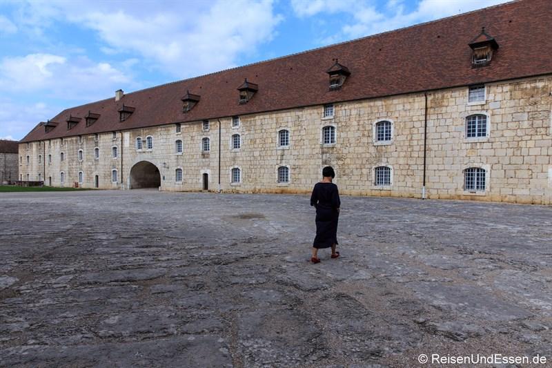 Innenhof in der Zitadelle von Besancon