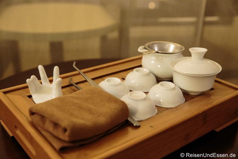 Teeset im Luxus Zimmer