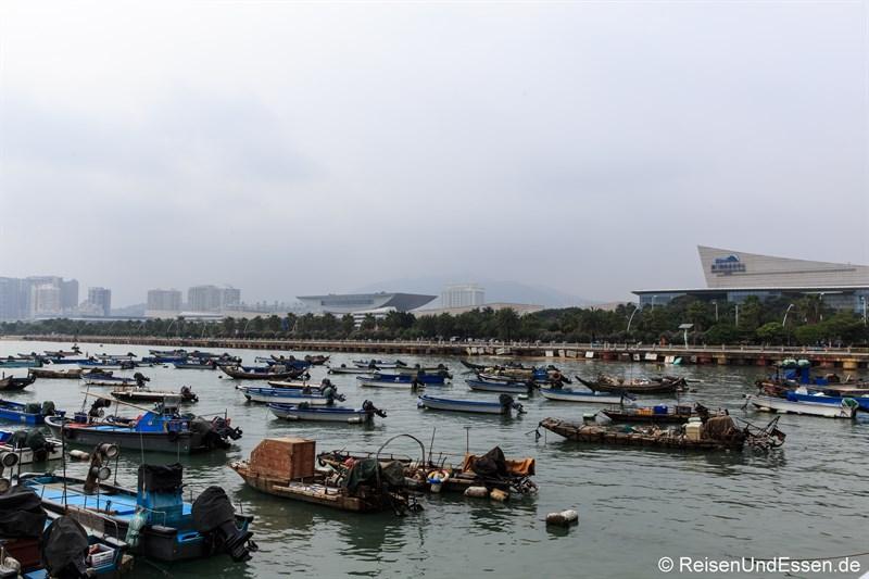 Fischerboote in Xiamen
