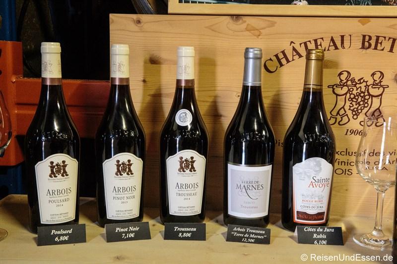 Weinprobe in Arbois