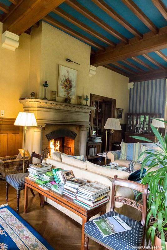 Wohnzimmer im Chateau de la Presle