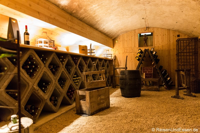Weinkeller im Chateau de la Presle