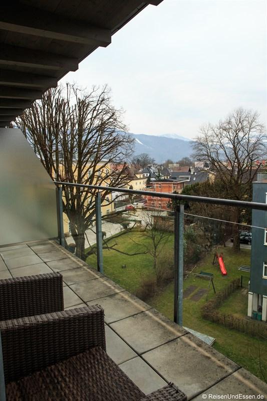Ausblick von der Terrasse der Junior Suite
