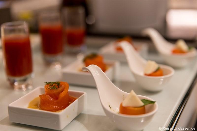 Vorspeise im Restaurant Elements im Kempinski Yanqi Lake