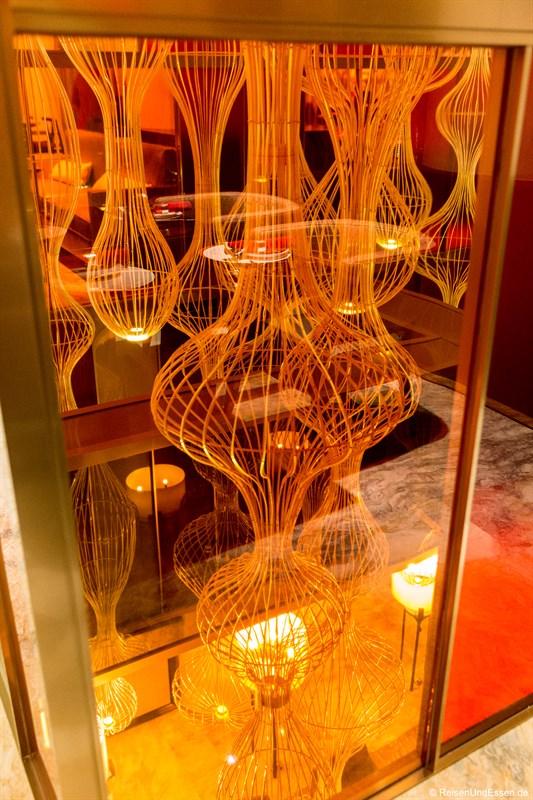 Blick in Lobby vom Magnolia Restaurant